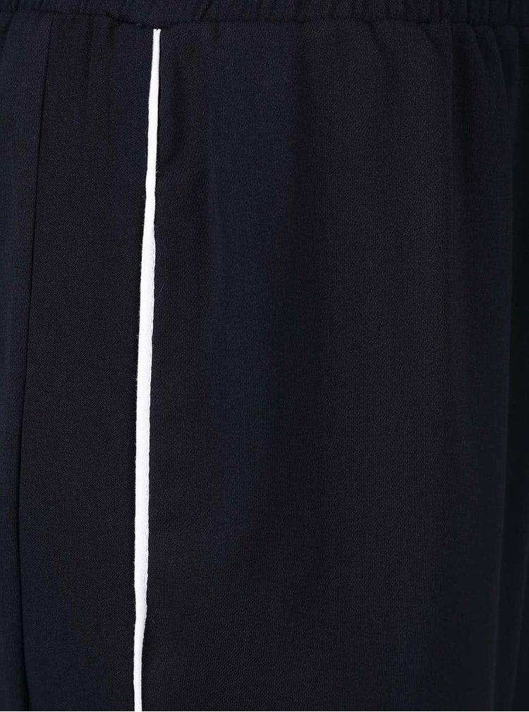 Tmavě modré volnější kalhoty s bílým proužkem Dorothy Perkins