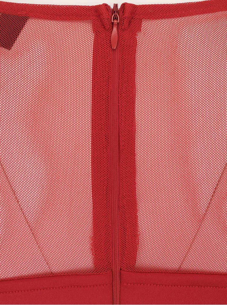 Rochie roșie AX Paris cu detalii din dantelă