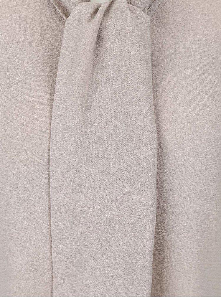 Béžová blúzka s kravatou YAYA