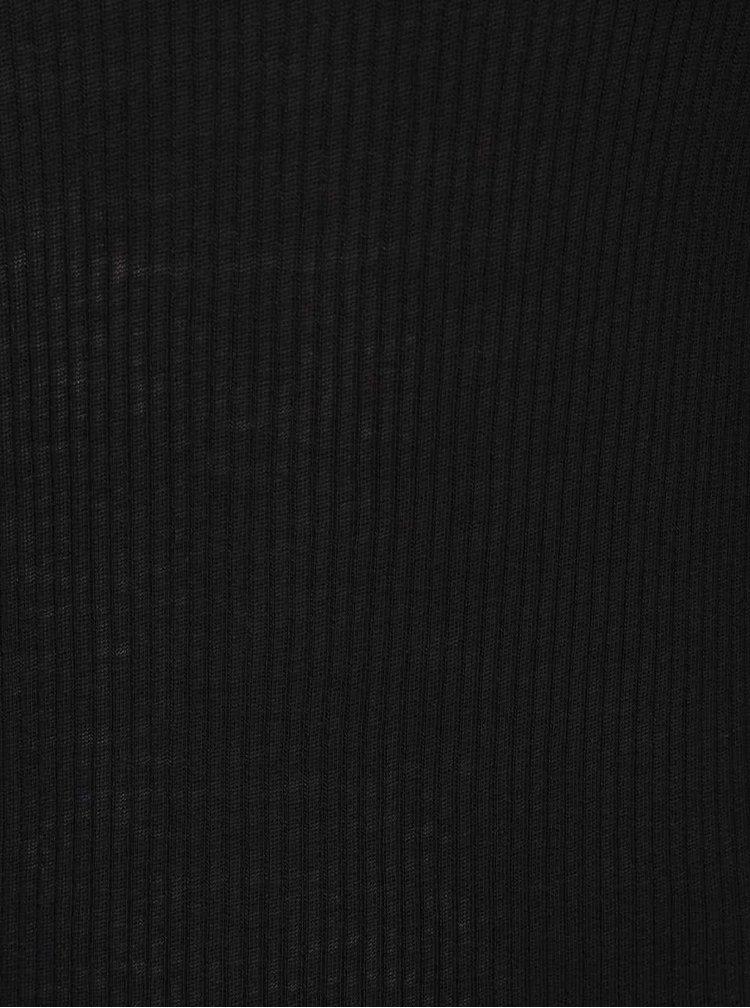 Černé maxišaty s dlouhým rukávem gsus