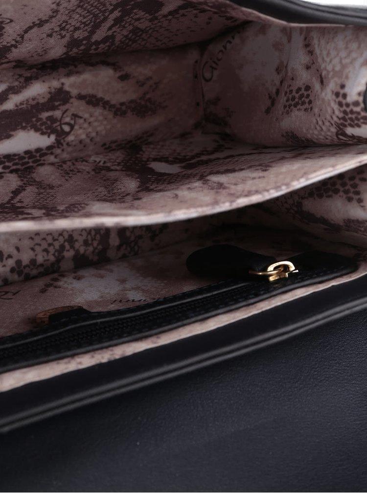 Tmavě modrá crossbody kabelka s detaily ve zlaté barvě Gionni Harlethj