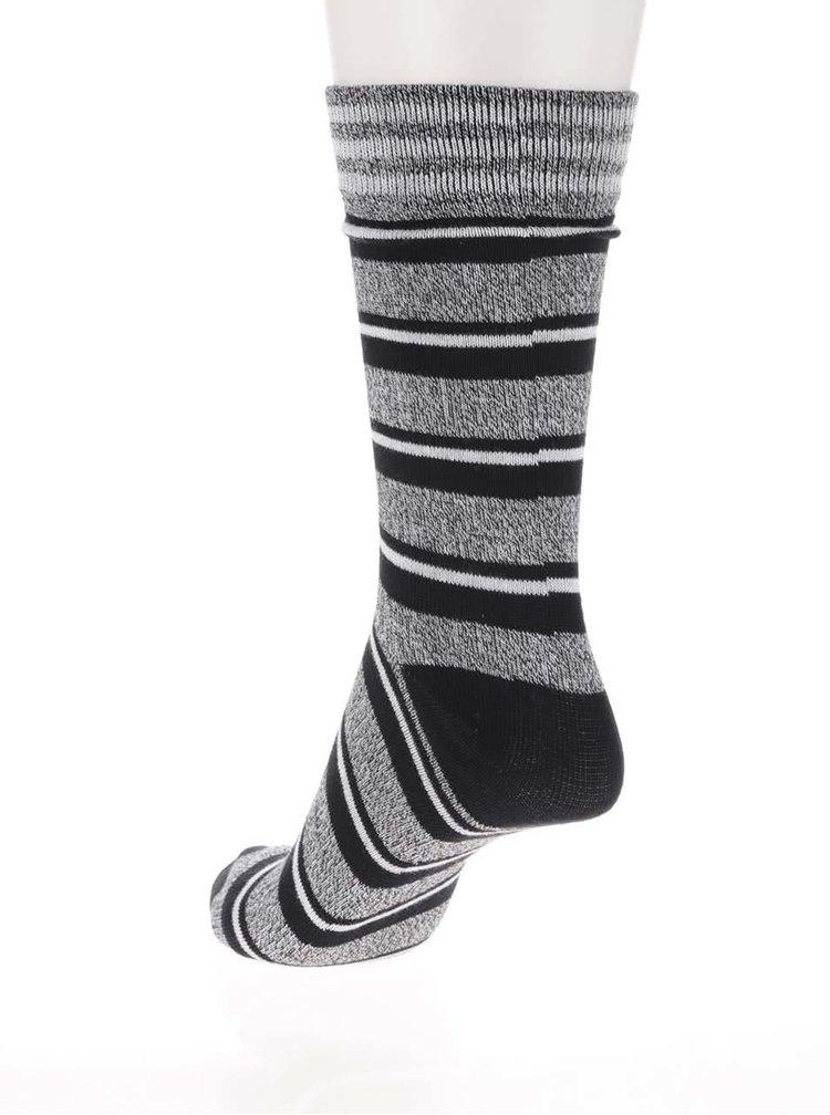 Černé žíhané ponožky s pruhy Jack & Jones Blue