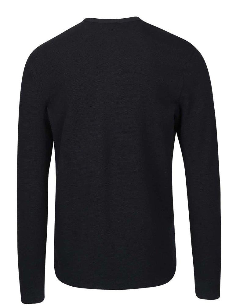 Čierne tričko s dlhým rukávom Selected Homme Done