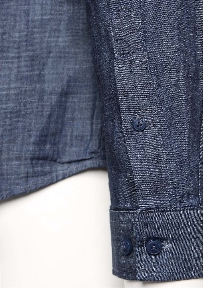 Tmavě modrá žíhaná džínová košile Jack & Jones Adam