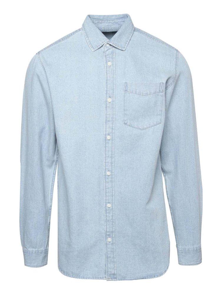 Svetlomodrá rifľová košeľa s vreckom Jack & Jones Denim