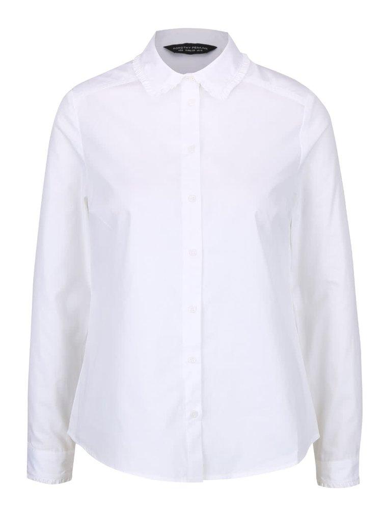 Bílá košile s ozdobným límečkem Dorothy Perkins