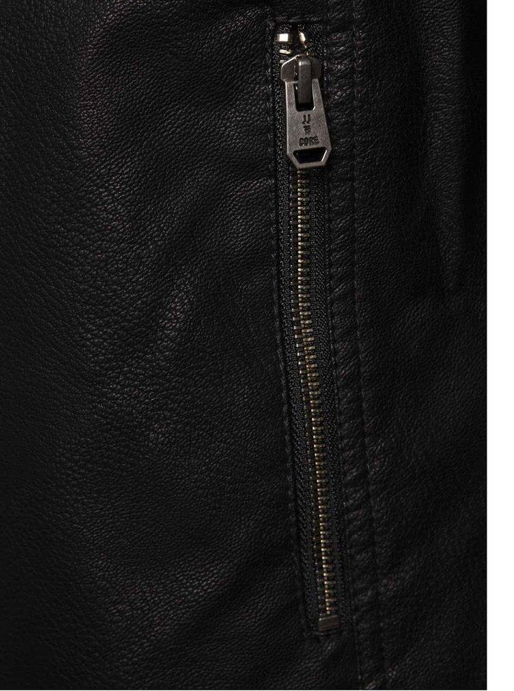 Černý koženkový křivák Jack & Jones Tano
