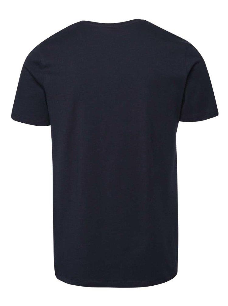 Tmavě modré triko s potiskem Jack & Jones Tap