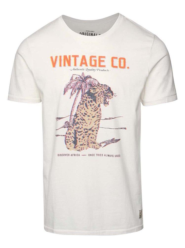 Krémové triko s potiskem Jack & Jones African