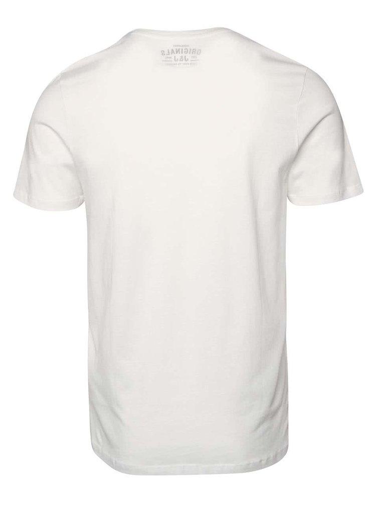Krémové triko s kapsou Jack & Jones Class