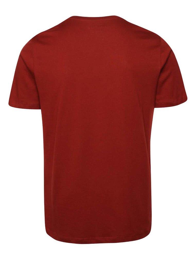 Vínové triko s kapsou Jack & Jones Class