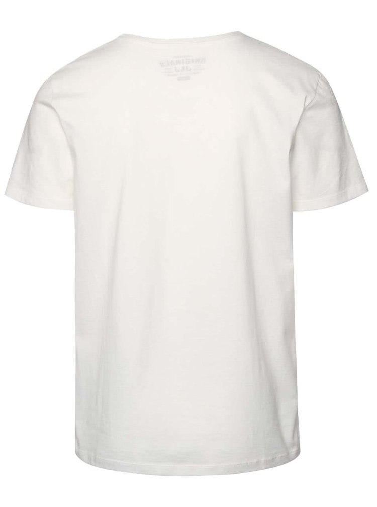 Tricou crem Jack & Jones Scater din bumbac cu print