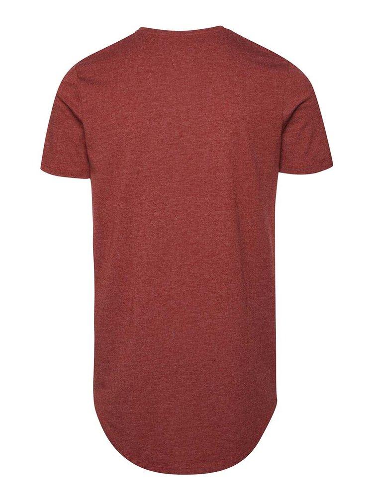 Vínové triko s logem Jack & Jones Break