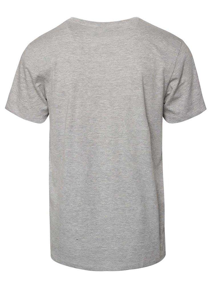 Světle šedé triko s potiskem Jack & Jones Scater