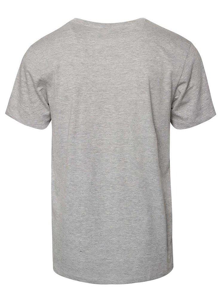 Tricou gri deschis Jack & Jones Scater din bumbac cu print