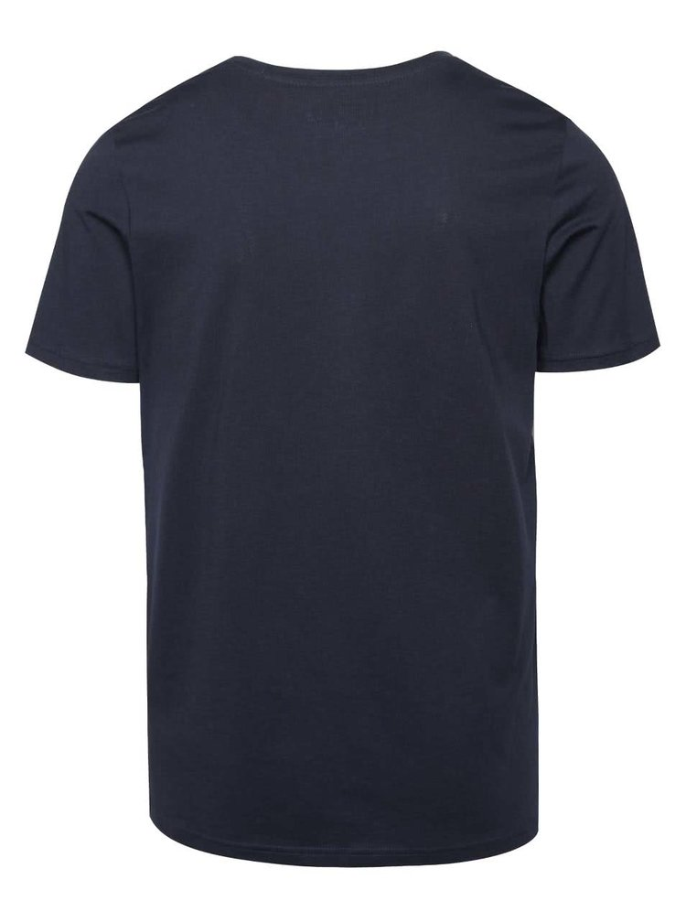 Tmavomodré tričko s potlačou Jack & Jones Ynez