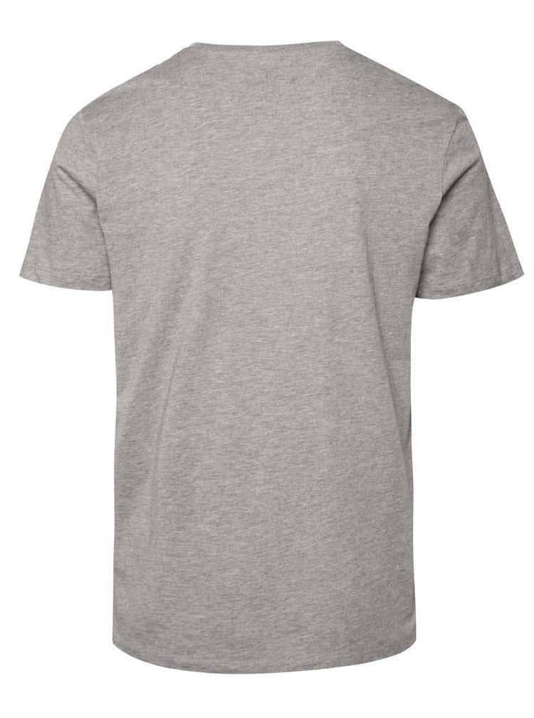 Světle šedé triko s potiskem pandy Jack & Jones Seikei