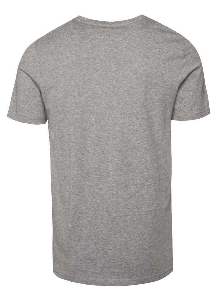 Světle šedé triko s potiskem Jack & Jones Ynez