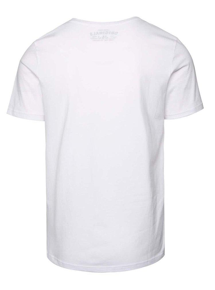Bílé triko s potiskem Jack & Jones Ynez