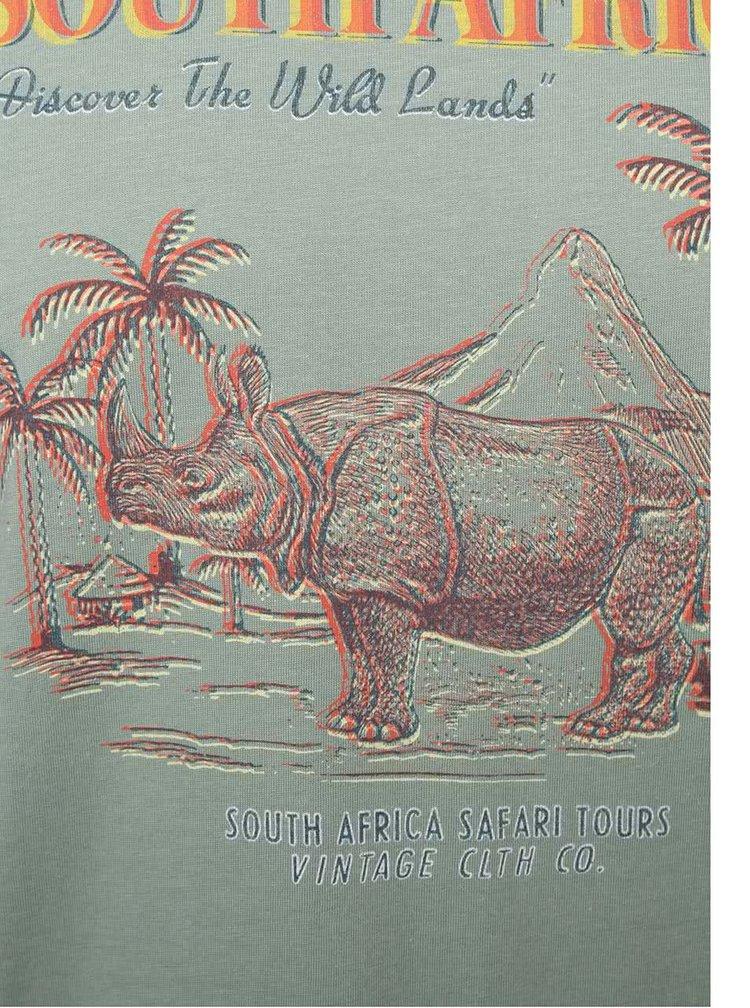 Khaki triko s potiskem Jack & Jones African