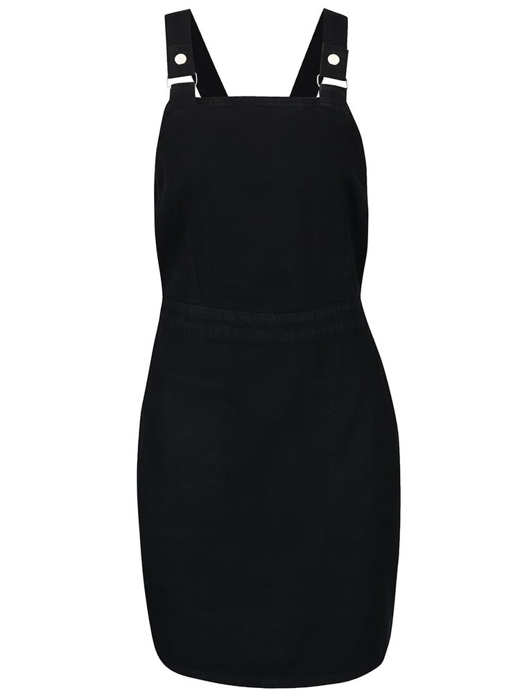 Čierne šaty na traky s vreckami Dorothy Perkins