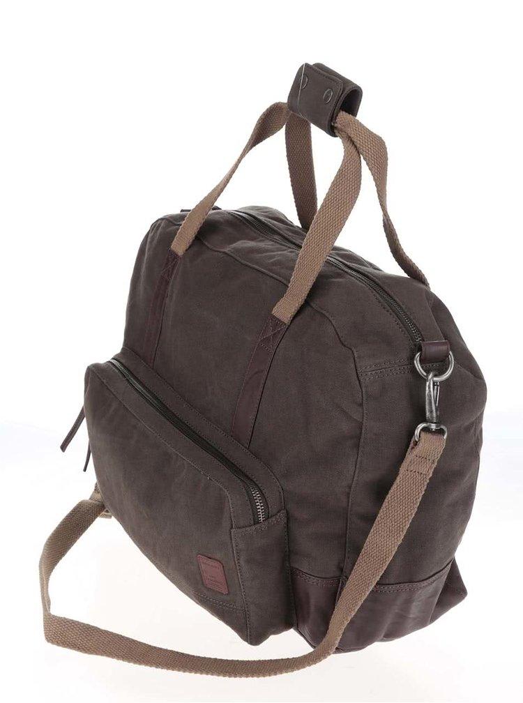 Hnědozelená taška s detaily Jack & Jones Jade