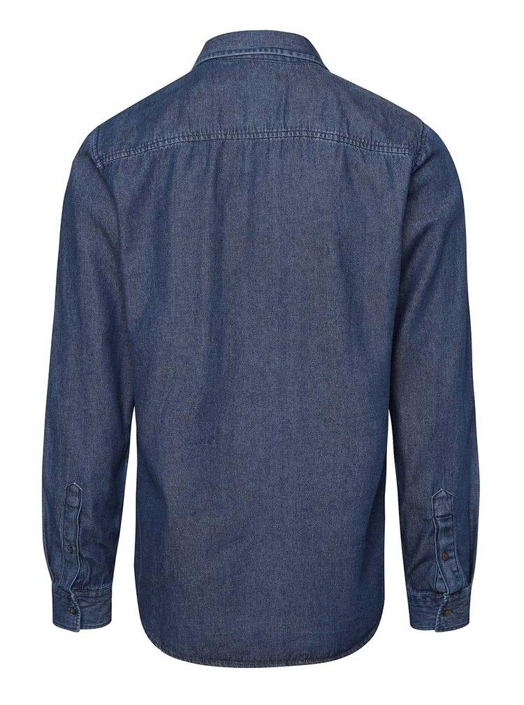 Modrá rifľová košeľa s vreckom Jack & Jones Denim