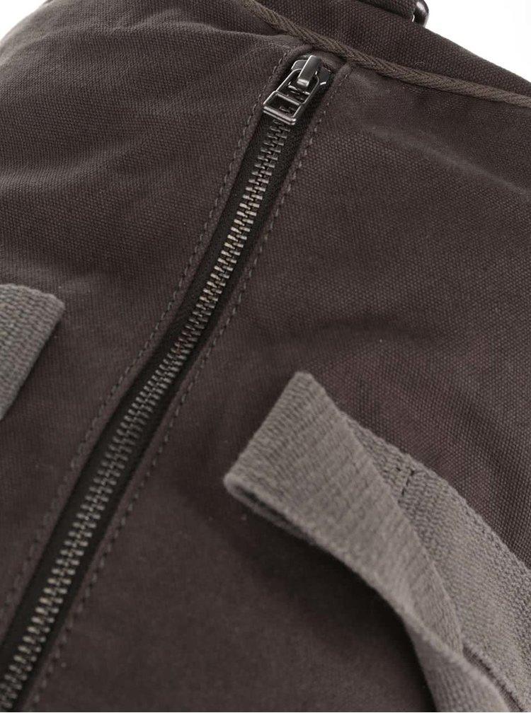 Zeleno-hnedá cestovný taška Jack & Jones Ty