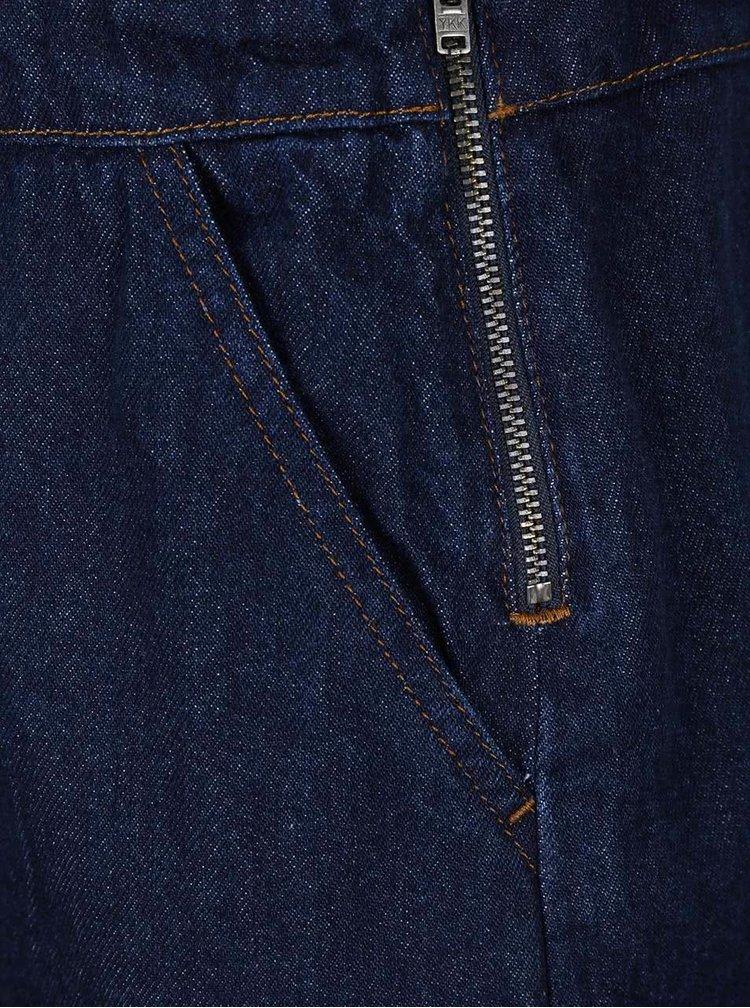 Tmavě modré džínové šaty s laclem a výšivkou Dorothy Perkins