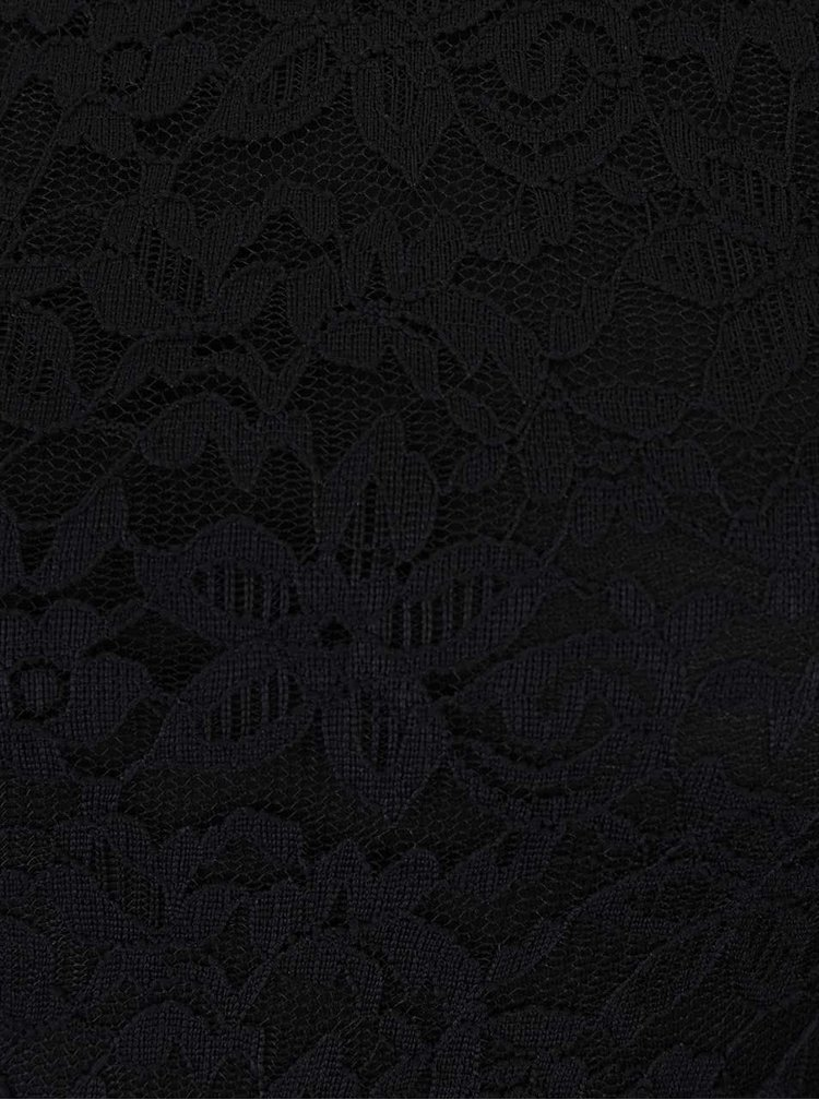 Čierne čipkované šaty Haily's Susie