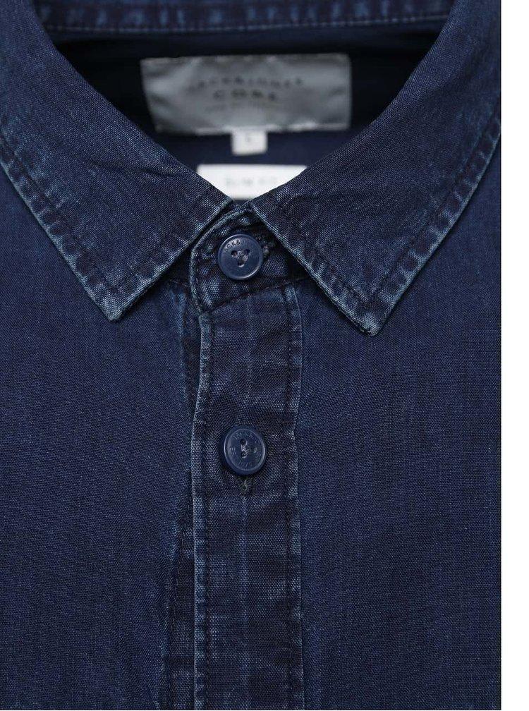 Tmavomodrá rifľová košeľa Jack & Jones Adam
