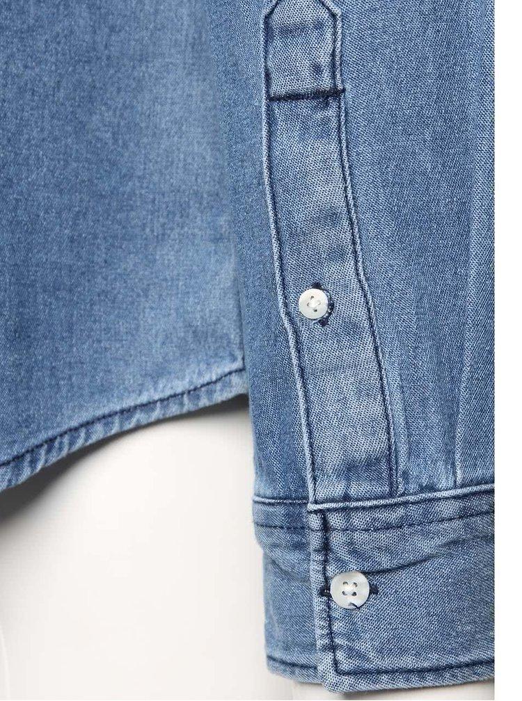 Světle modrá denimová košile s kapsou Jack & Jones Denim