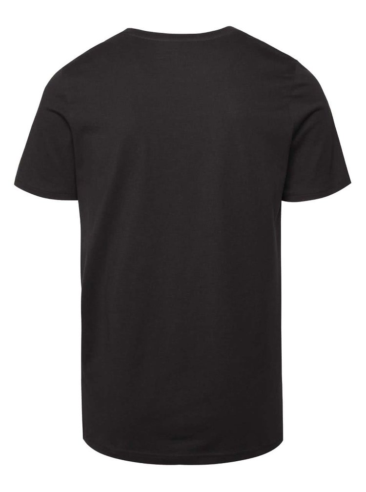 Čierne tričko s potlačou Jack & Jones Ynez