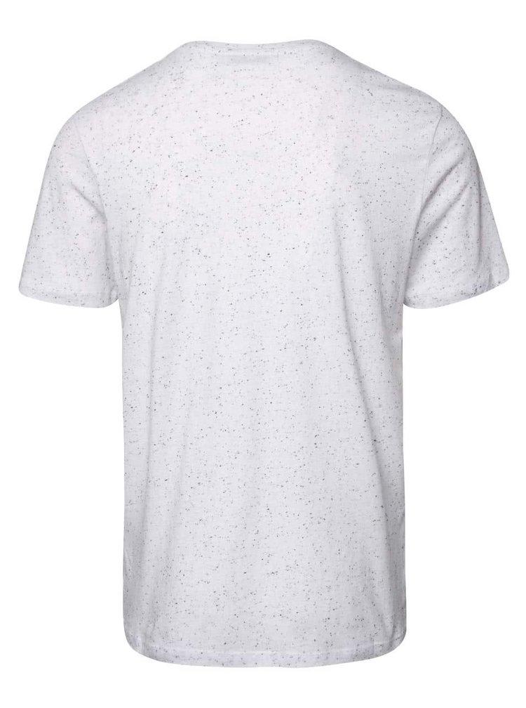 Tricou alb Jack & Jones Naps cu model discret