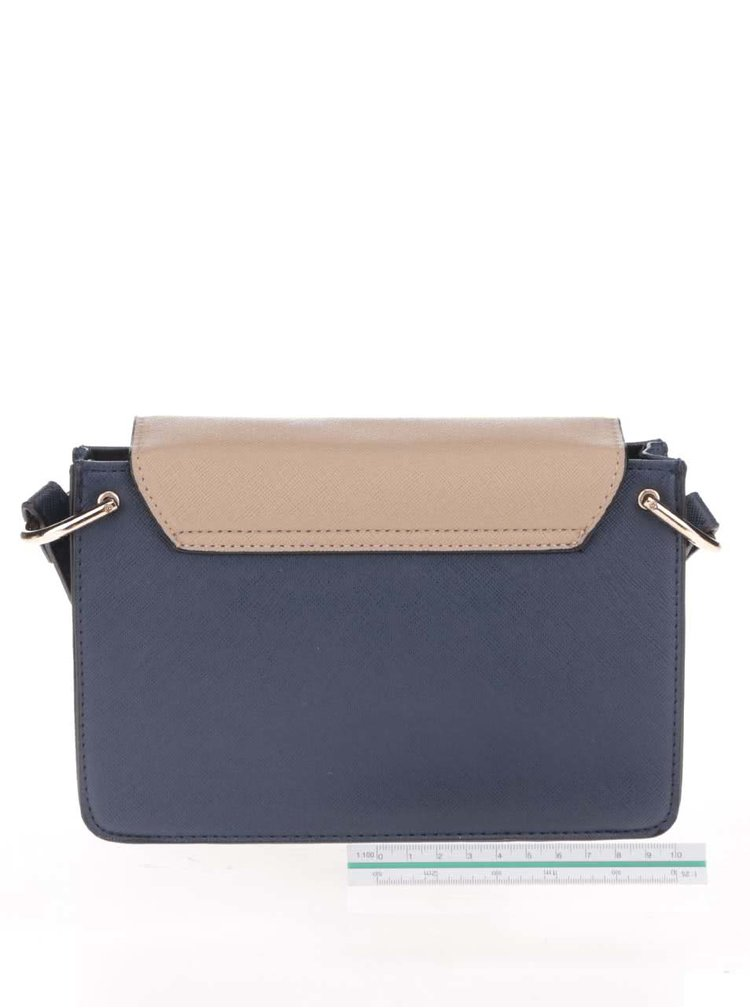 Béžovo-modrá menší crossbody kabelka Dorothy Perkins