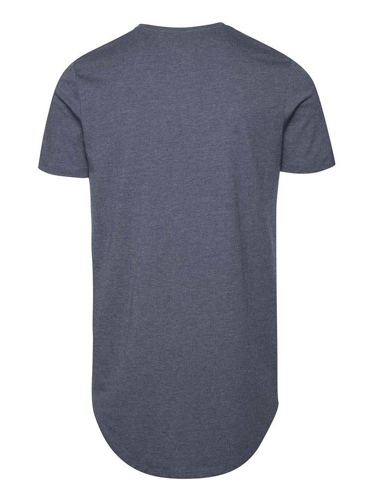 Tricou albastru Jack & Jones Break cu model discret