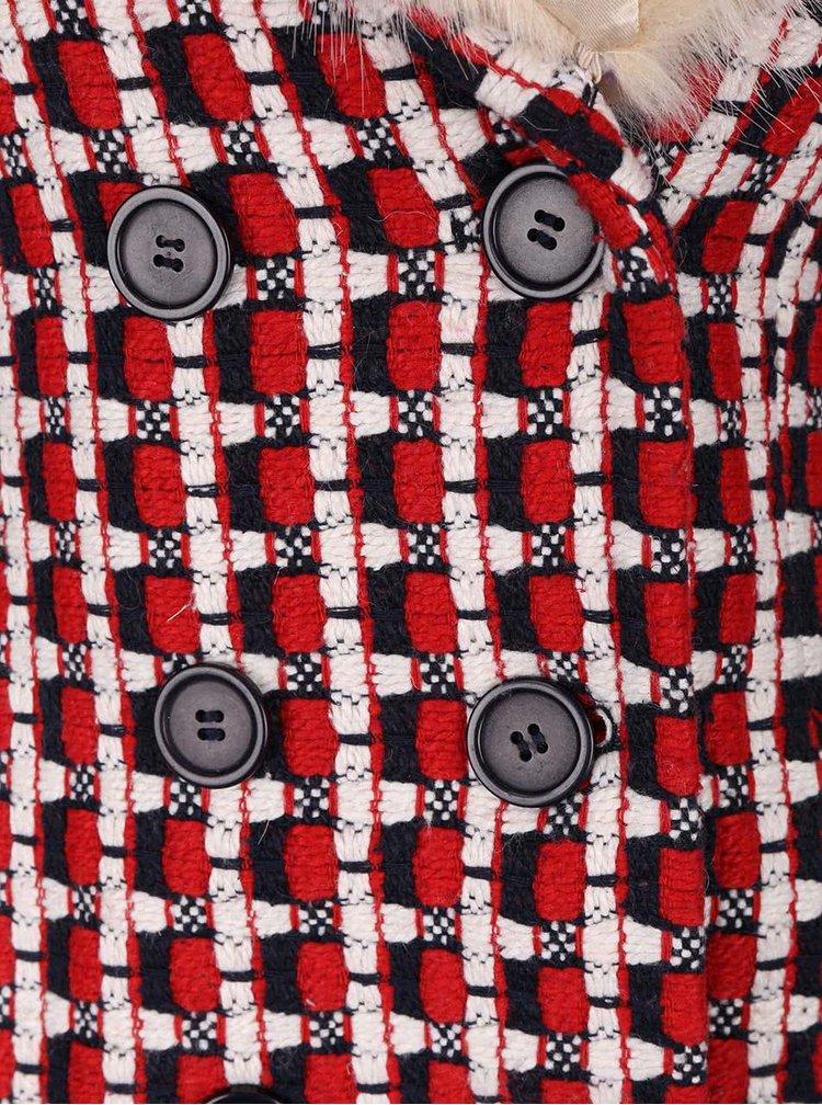 Palton cu model geometric Fever London Kubrick