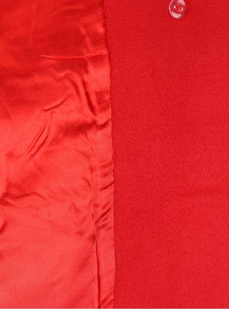 Červený kabát so skrátenými rukávmi Fever London Salla
