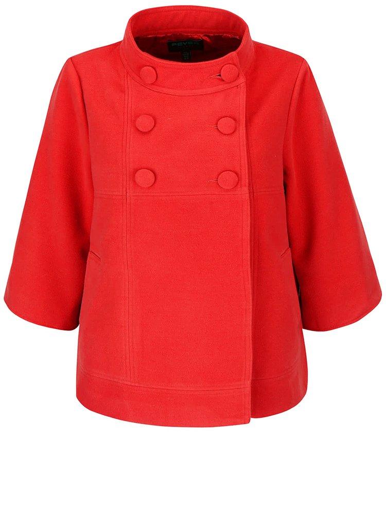 Jachetă roșie Fever London Salla cu croi evazat