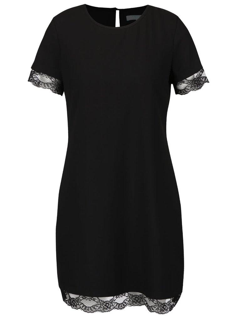 Černé šaty s krajkovými lemy Fever London Chantilly