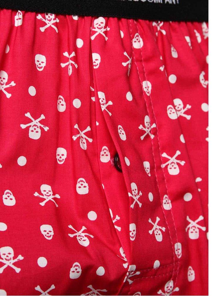 Ružové trenírky s lebkami Represent Mike Skull&Bones