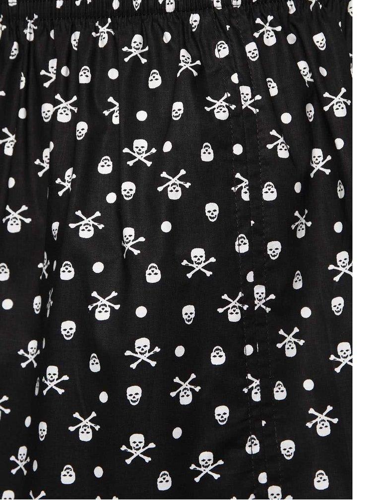 Čierne trenírky s lebkami Represent Ali Skull&Bones