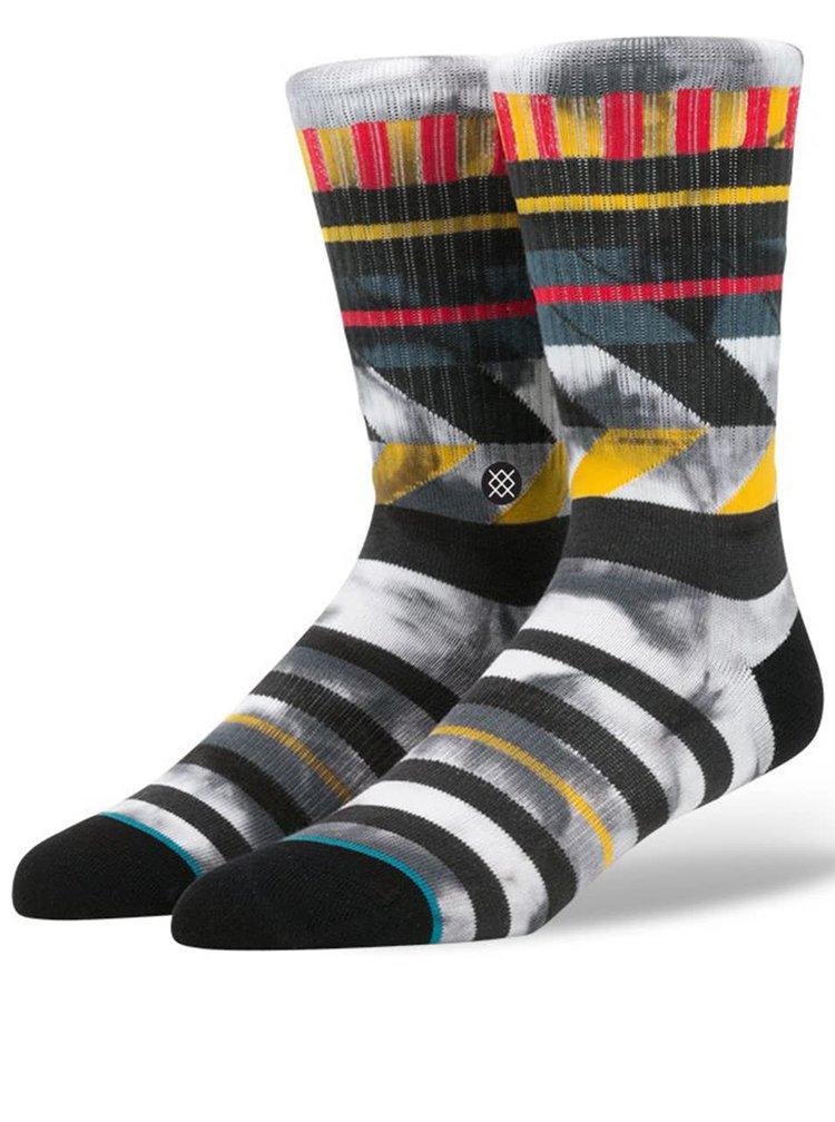 Svetlosivé pánske ponožky s farebným vzorom Stance Maize