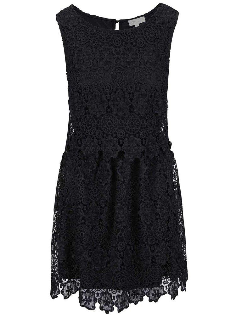 Černé krajkové šaty Apricot