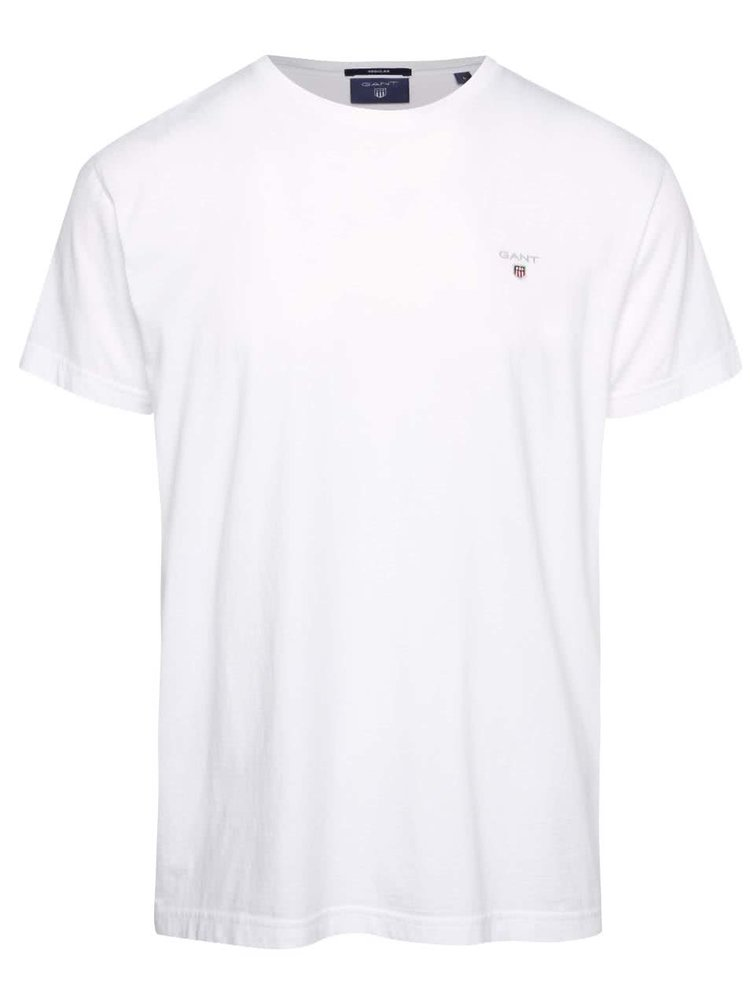 Bílé pánské triko s logem GANT