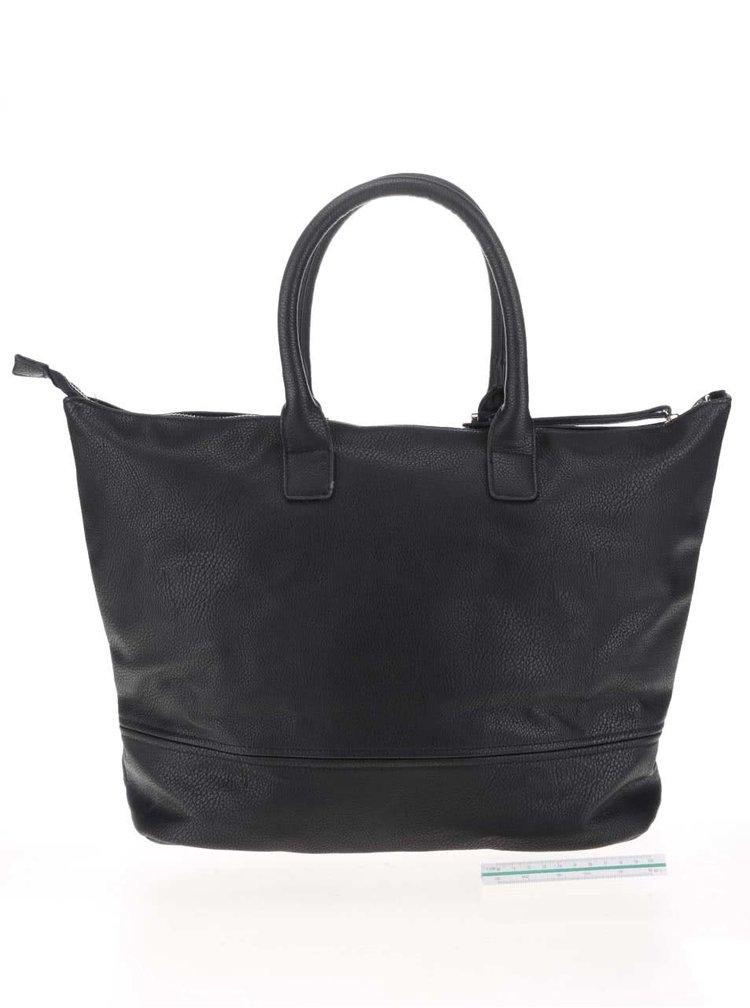 Černá kabelka s aplikací Pieces Dacio