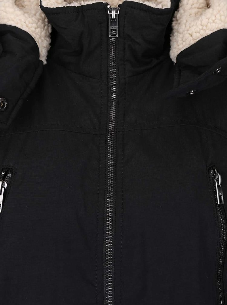Černá parka s kapucí ONLY Anna