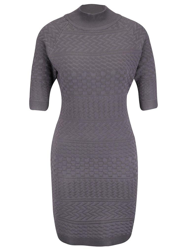 Šedé vzorované šaty Apricot