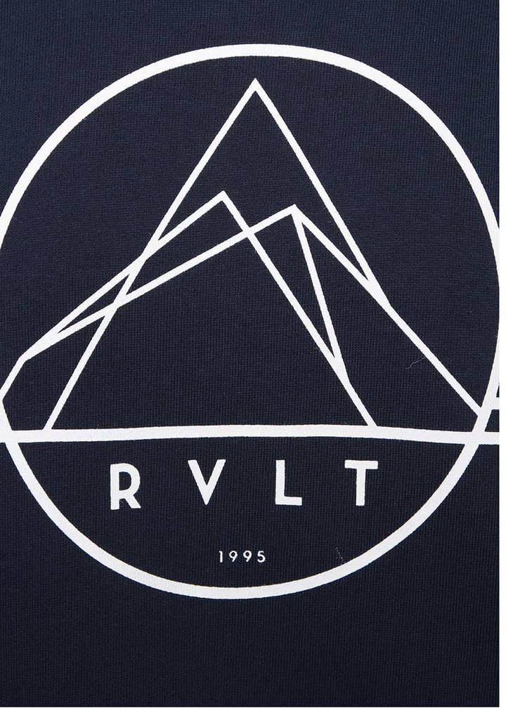 Bluza albastra RVLT cu print