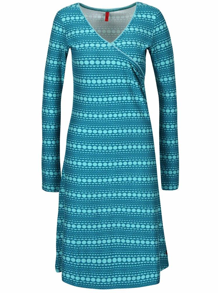 Tyrkysové vzorované šaty Tranquillo Nara